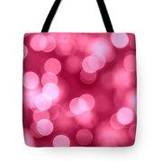 Hot Pink Bokeh Tote Bag