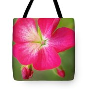 Hot Pink Geranium On A Brilliant Summer Day Tote Bag