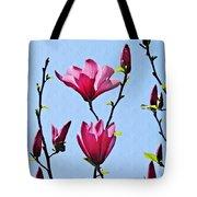 Hot Pink Magnolias Tote Bag