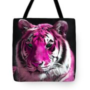 Hot Pink Tiger Tote Bag
