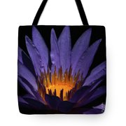 Hot Purple Water Lily Tote Bag
