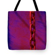 Hot Red Chain Tote Bag