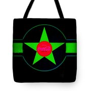Hot Red On Cool Green Tote Bag