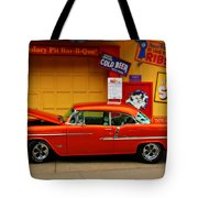 Hot Rod Bbq Tote Bag by Perry Webster