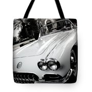 Hot Rod Black And White Tote Bag