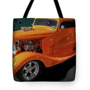 Hot Rod Orange Tote Bag