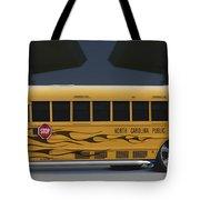 Hot Rod School Bus Tote Bag