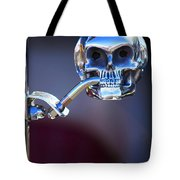 Hot Rod Skull Rear View Mirror Tote Bag