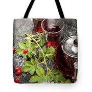 Hot Rosehip Tea In Glass Tote Bag
