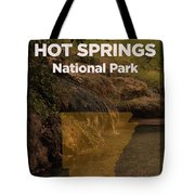 Hot Springs National Park In Arkansas Travel Poster Series Of National Parks Number 31 Tote Bag