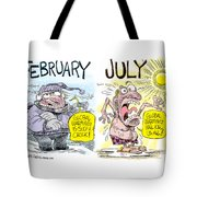 Hot Summer Global Warming Tote Bag