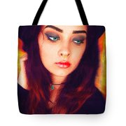 Hot Youth Beauty Rebellion Alexis Burleson Signed Tote Bag