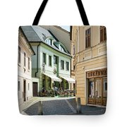Hotel Around The Bend Tote Bag