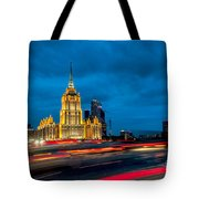 Hotel Radisson In Moscow Tote Bag
