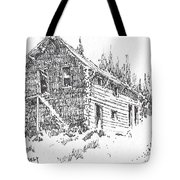 Hotel Red Lion Ghost Town Montana Tote Bag