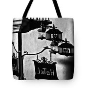 Hotel Sign - Reality And Shadow Tote Bag