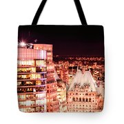 Hotel Vancouver And Sheraton Wall Center Tote Bag