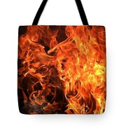 Hot,firery Flames. Tote Bag