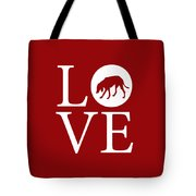 Hound Dog Love Red Tote Bag