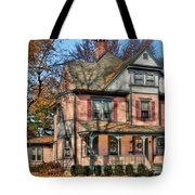 House - I Want That Big Pink House Tote Bag by Mike Savad