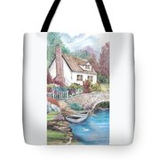 House And Bridge Tote Bag