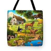 House Animals Tote Bag