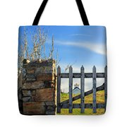 House Behind The Fence Tote Bag