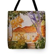 House Beside Mountain Tote Bag