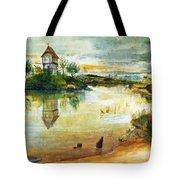 House By A Pond Tote Bag