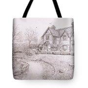 House By Lake Tote Bag