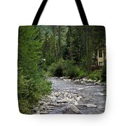 House By The Stream In Vail 1 Tote Bag