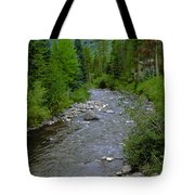 House By The Stream In Vail 2 Tote Bag