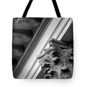 House Column Black And White Tote Bag