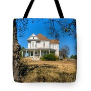 House Framed By Tree Tote Bag