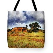 House In A Desert Land Tote Bag