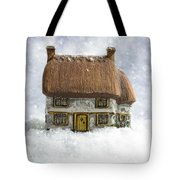 House In Snow Tote Bag