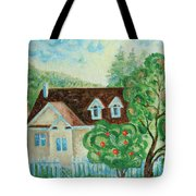 House In The Village Tote Bag