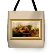 House Near The River. L A With Decorative Ornate Printed Frame. Tote Bag