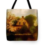 House Near The River. L B Tote Bag