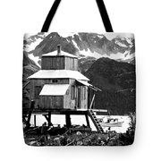 House Of Stilts Bw Tote Bag