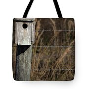 House On A Crooked Fence Post Tote Bag