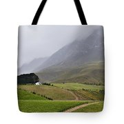 House On A Hill In The Mist Tote Bag