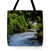 House On Margaree River Tote Bag