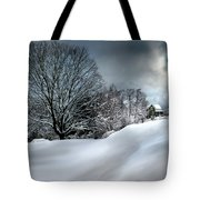 House On The Hill Winters In Vermont Tote Bag