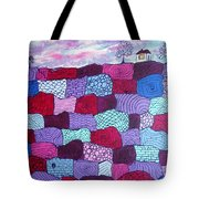 House On Top Of Patchwork Hill Tote Bag