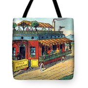 House On Wheels, 1900s French Postcard Tote Bag