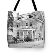 House Portrait In Ink 1 Tote Bag