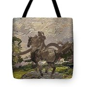 House Statue In The Field Tote Bag