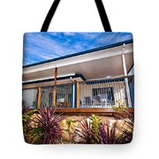 House With Deck Tote Bag
