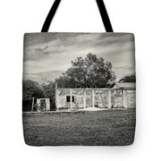 House With Outbuildings Tote Bag